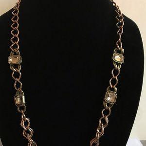 LOFT Jewelry - LOFT gold necklace with 4 rhinestones